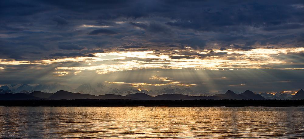 Glacier Bay Alaska Sunset