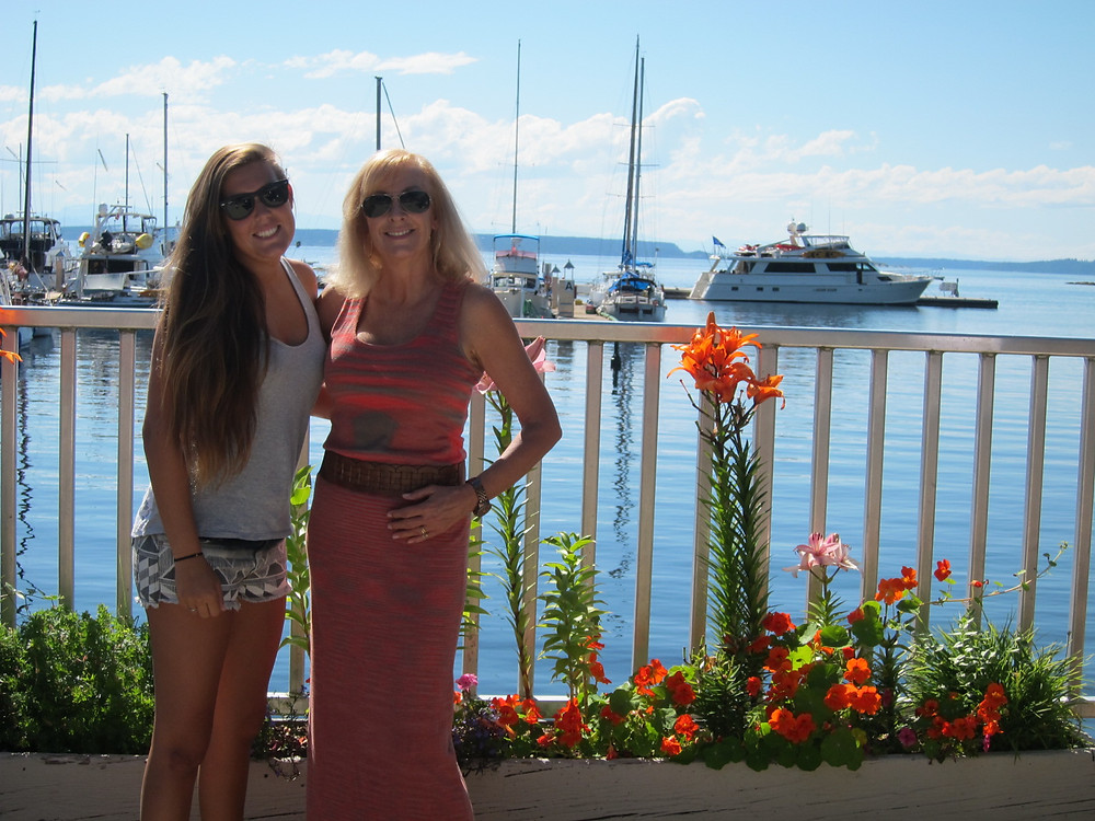 Two Women at Marina in Lund BC