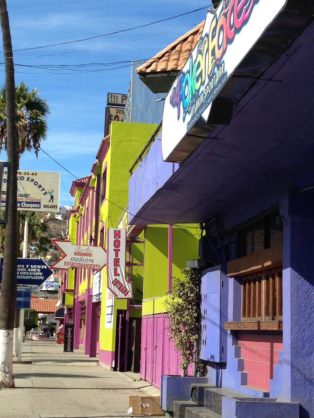 Street of Ensenada Mexico