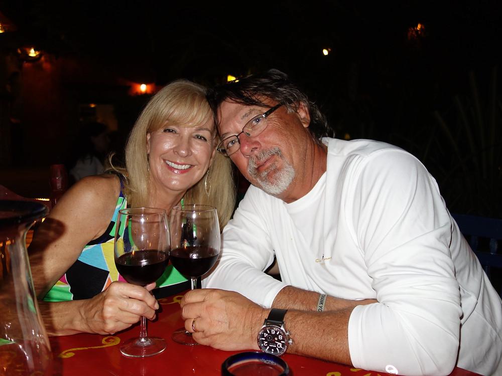Parents at restaurant mexico
