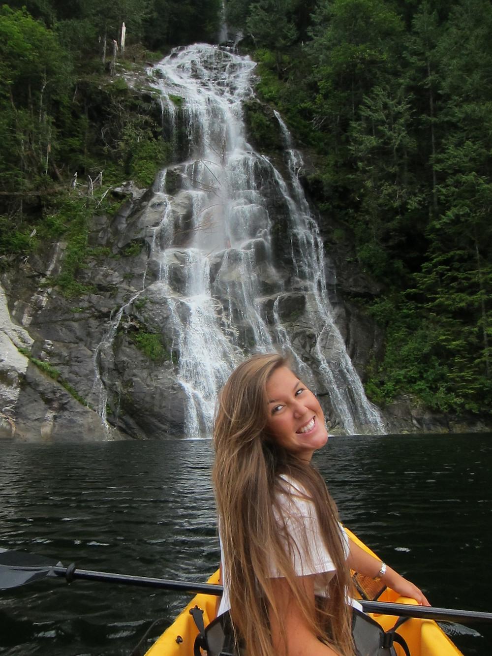 Kayakers Princess Louisa inlet BC
