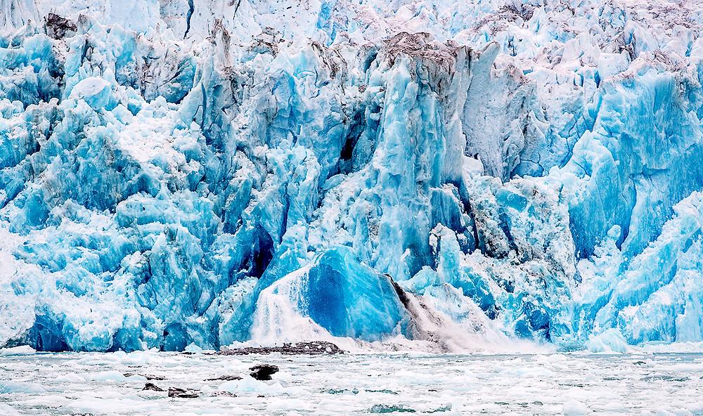 Sawyer glacier calving in Tracy Arm