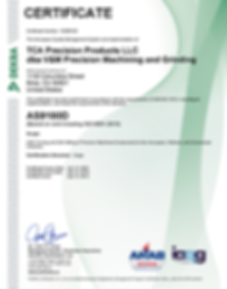 TCA Precision Products LLC  AS9100D Cert