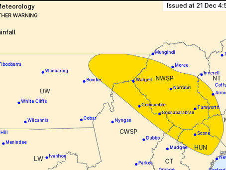 Severe weather warning for the region