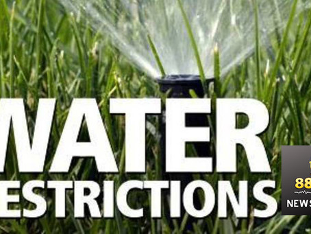 Update of Water Restrictions