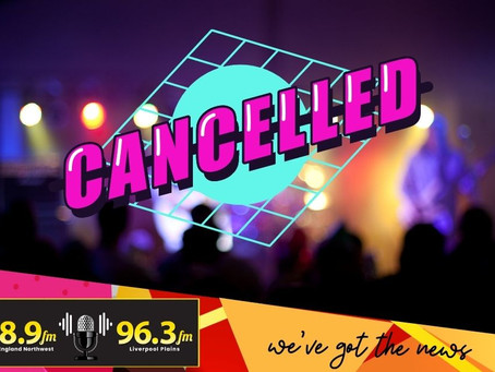 Tamworth music gigs cancelled