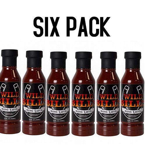 "(6 Pack) Wild Bill's ""Original"" Wing Sauce 12oz."