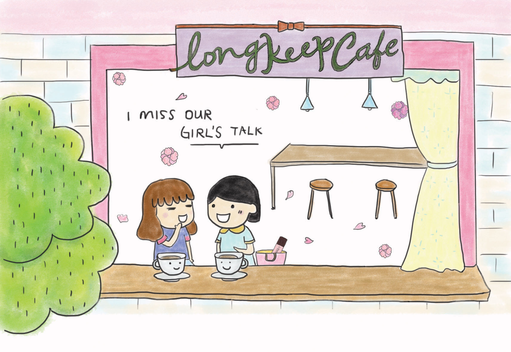 Postcard--I miss our girl's talk