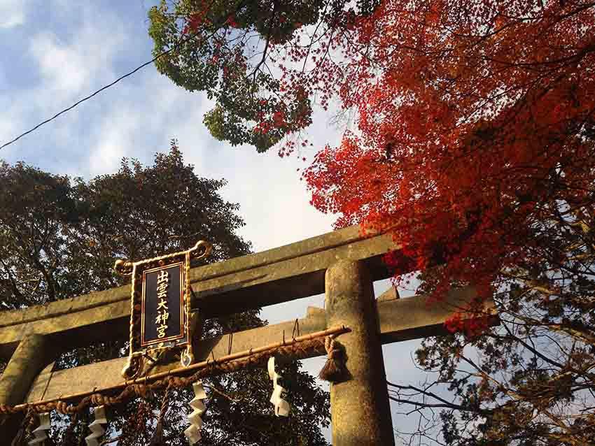 位於京都龜岡的出雲大神宮是日本出雲信仰的三大神社之一,總社就是在島根的出雲大社。