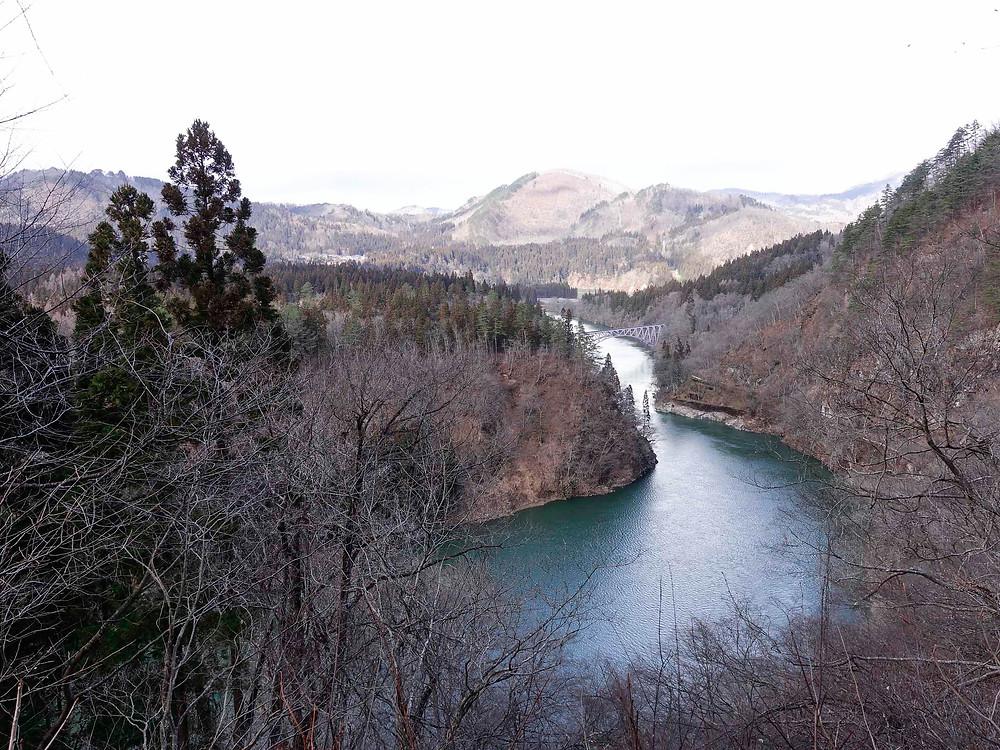 第一只見川橋樑-B眺望點