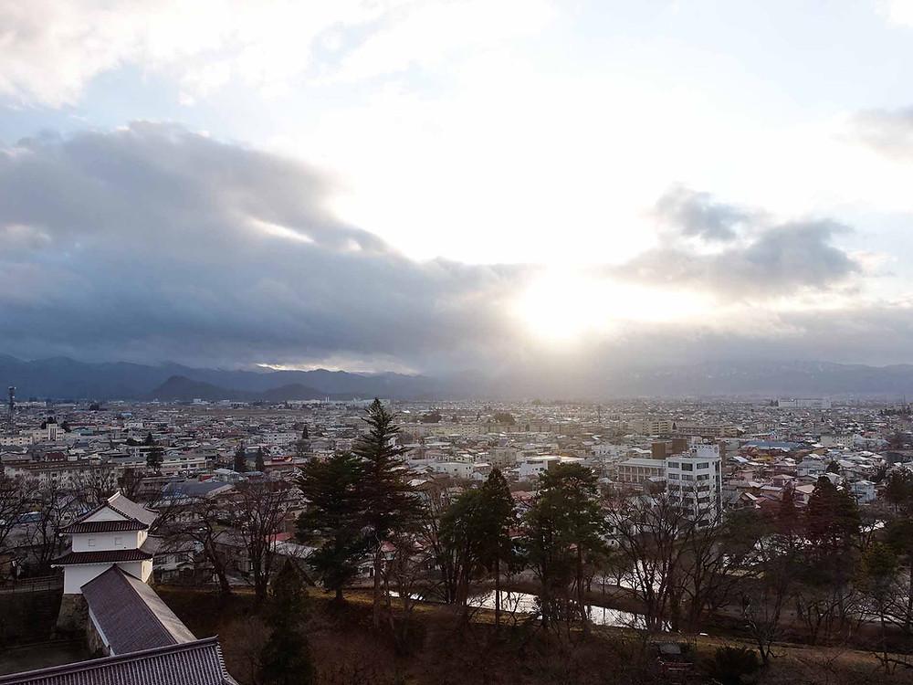 鶴城天守閣的風景
