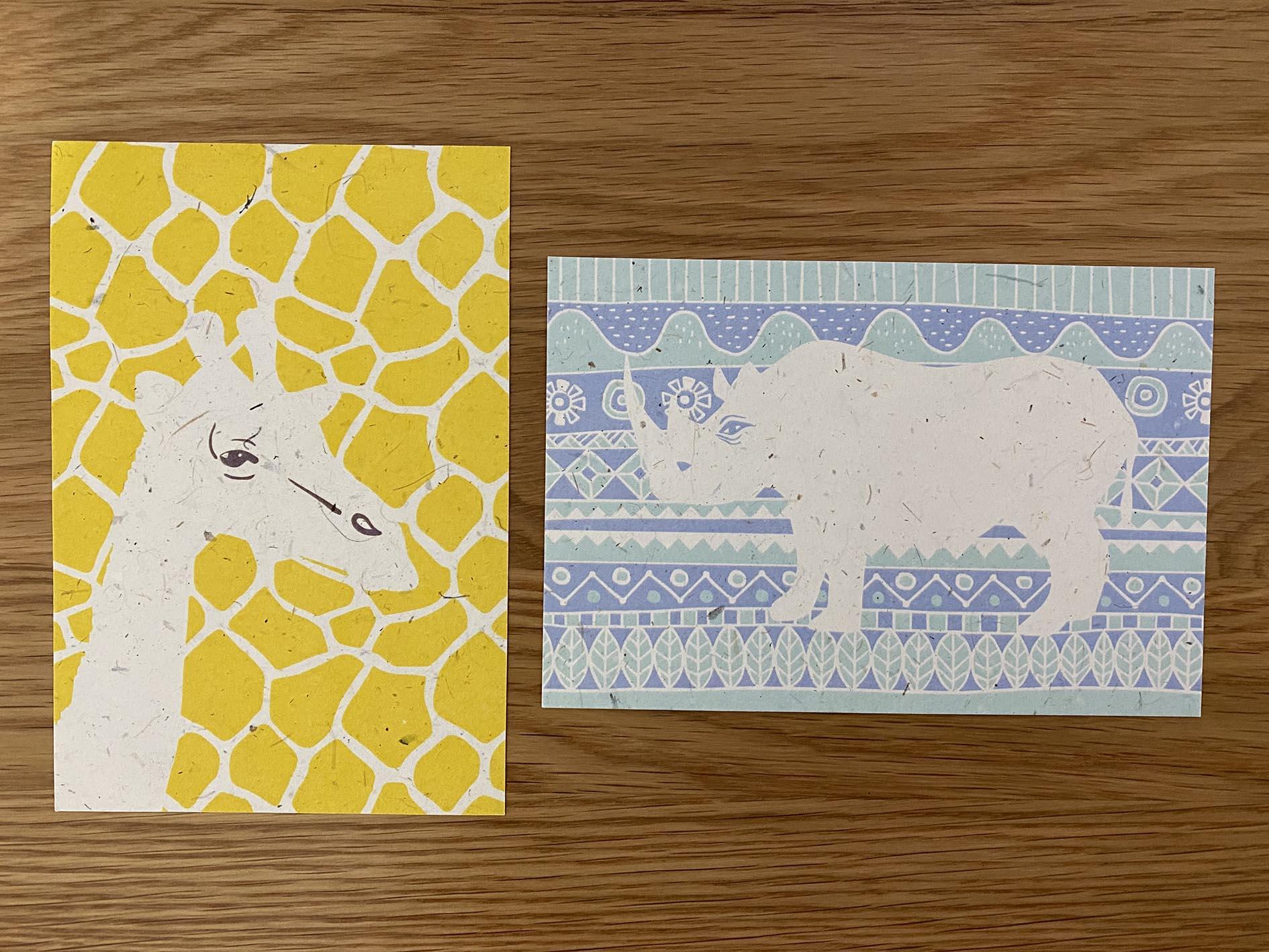 Wildlove Postcard printed on Elephant Poo Poo Paper