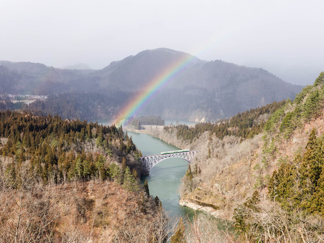 福島|第一只見川橋樑 – 拍電車絕景