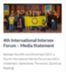 Statementof the th international intersex forum on Intersex Rusia's website