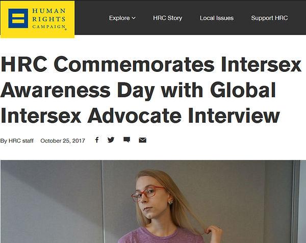 Inerview wit intersex actvist from Russia Irene Kuzemko from Intersex Russia