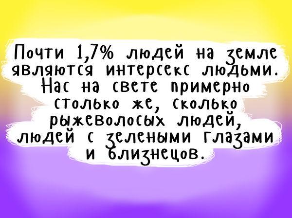 Процет интекс людей, интерсекс люди в России и в мире