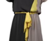 Joseph Ribkoff 212053 Black/Sand/Yellow Dress UK12
