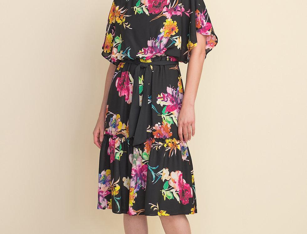 Joseph Ribkoff 212159 Black/Multi Dress UK12