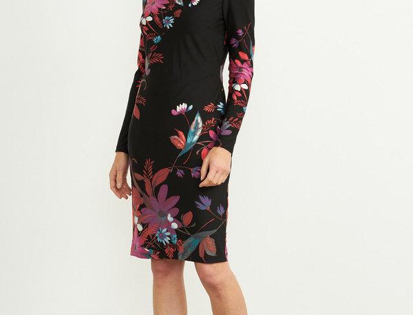 Joseph Ribkoff 204324 Black/Multi Floral Dress UK12