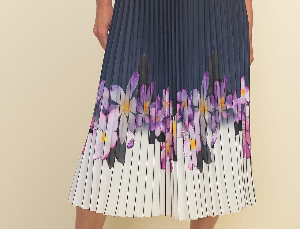 Joseph Ribkoff 211956 Black/Purple/Multi Skirt M
