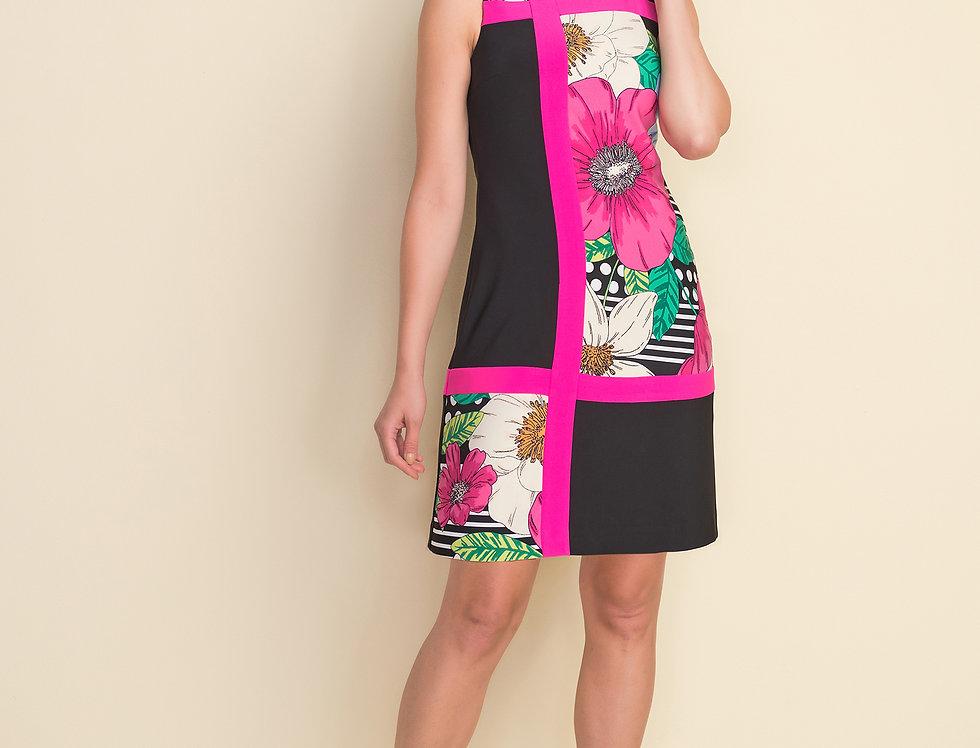 Joseph Ribkoff 212040 Black/Multi Dress UK12