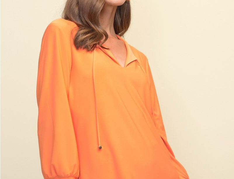 Joseph Ribkoff 211191 Tangerine Top UK10