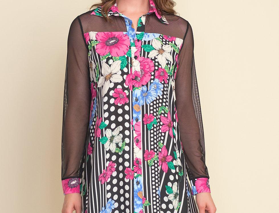 Joseph Ribkoff 212275 Black/Multi Tunic Dress UK12