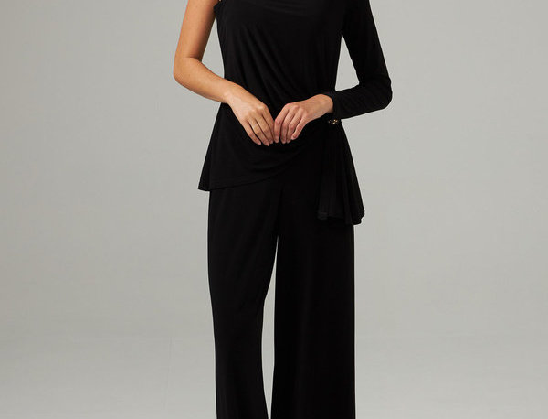 Joseph Ribkoff 203310 Black Studded Jumpsuit UK10