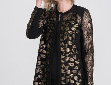 Joseph Ribkoff 204086 Black/Gold Jacket UK12