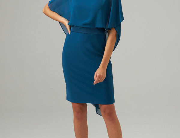 Joseph Ribkoff 203126 Peacock Dress UK12