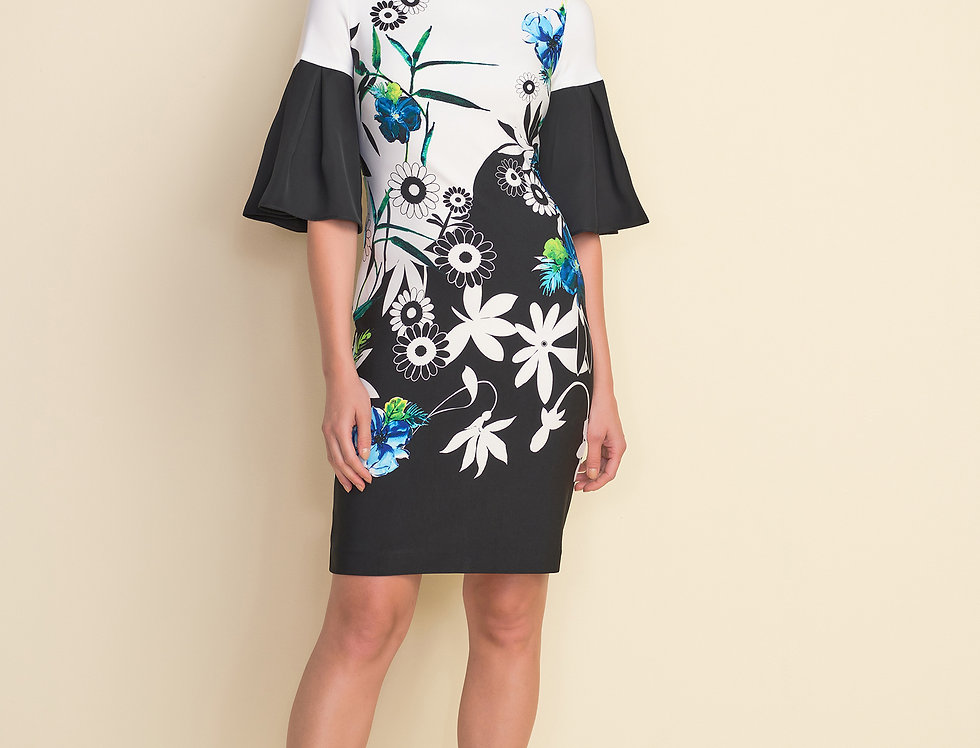 Joseph Ribkoff 212230 Black/Multi Dress UK12