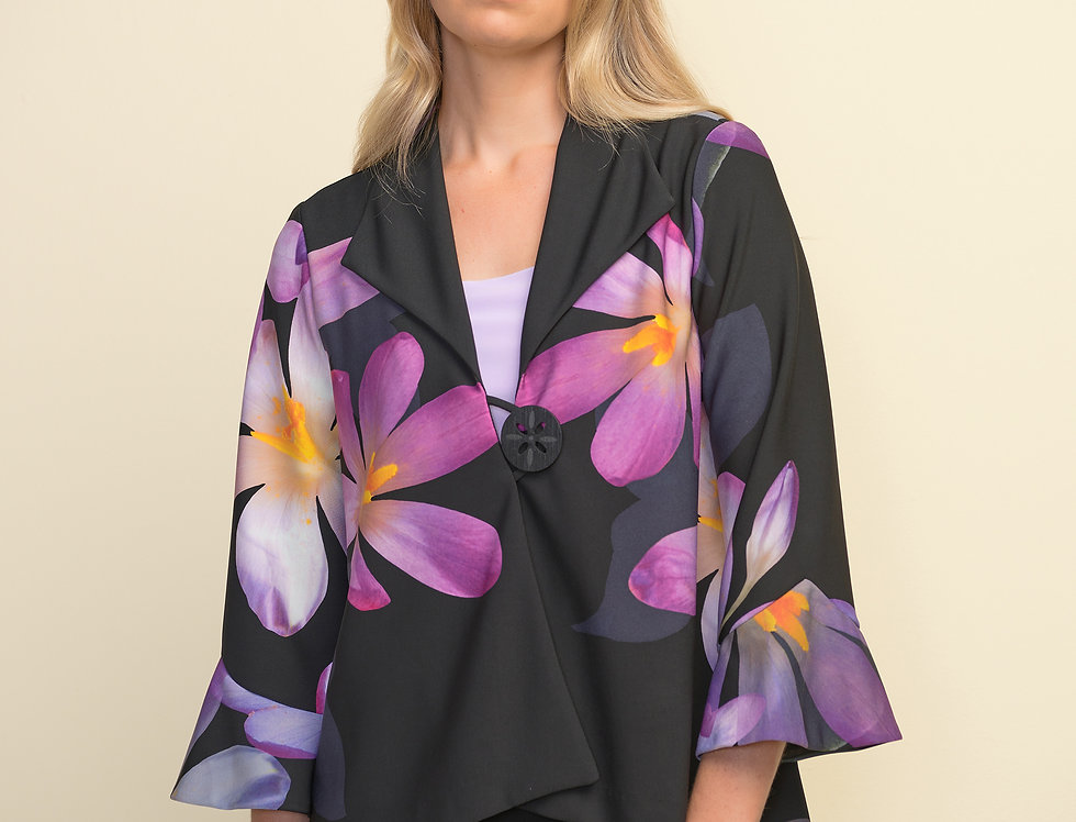 Joseph Ribkoff 211395 Black/Purple/Multi Jacket UK10