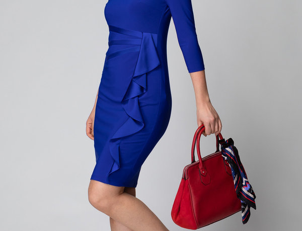Joseph Ribkoff 184471 Royal Sapphire Dress UK12