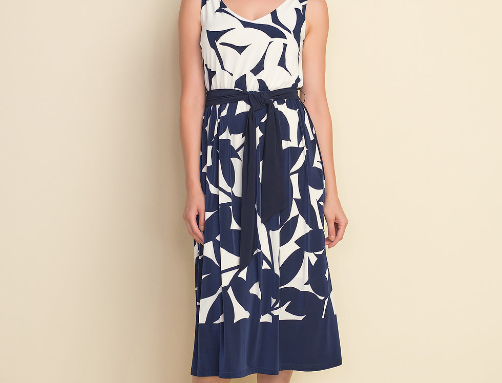 Joseph Ribkoff 212168 Navy/Off-white Dress UK12