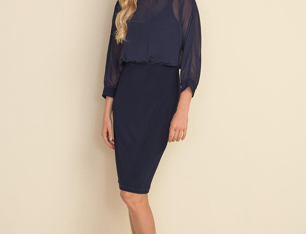 Joseph Ribkoff 212309 Midnight Blue Dress UK12