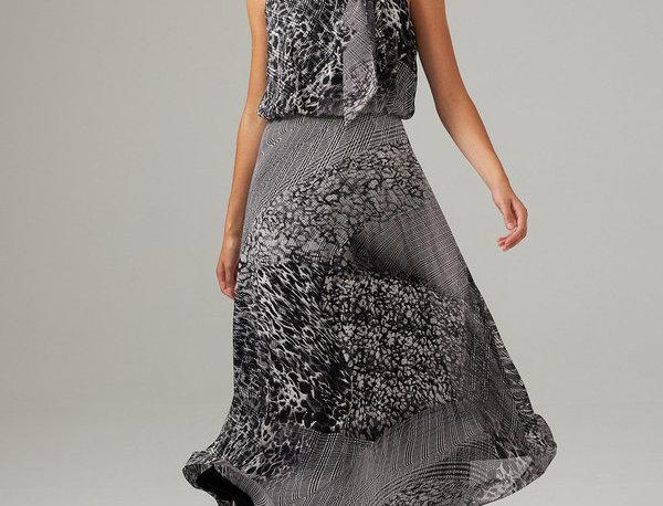 Joseph Ribkoff 203424 Black/Vanilla Print Dress UK12
