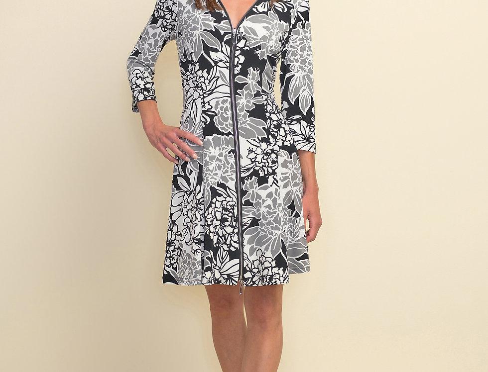 Joseph Ribkoff 211041 Black/Grey/White Dress UK10