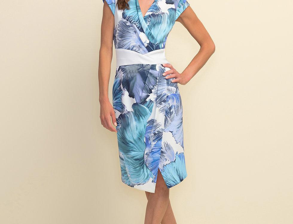 Joseph Ribkoff 211396 Blue/Multi Dress UK10