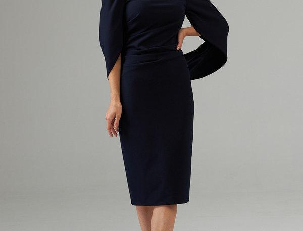 Joseph Ribkoff 203145 Midnight Blue Dress UK12