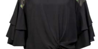 Joseph Ribkoff 211120 Black/Multi Top UK10