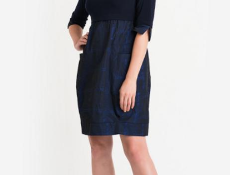 Joseph Ribkoff 204236 Midnight Blue/Multi Dress UK12
