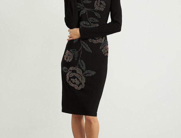 Joseph Ribkoff 204310 Black Long Sleeve Dress UK10