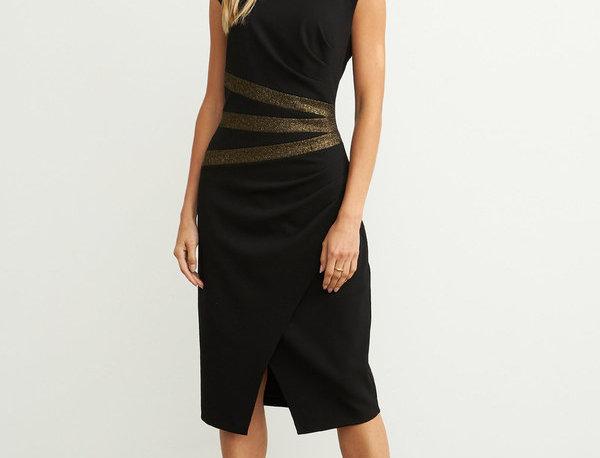 Joseph Ribkoff 204318 Black/Gold Dress UK12