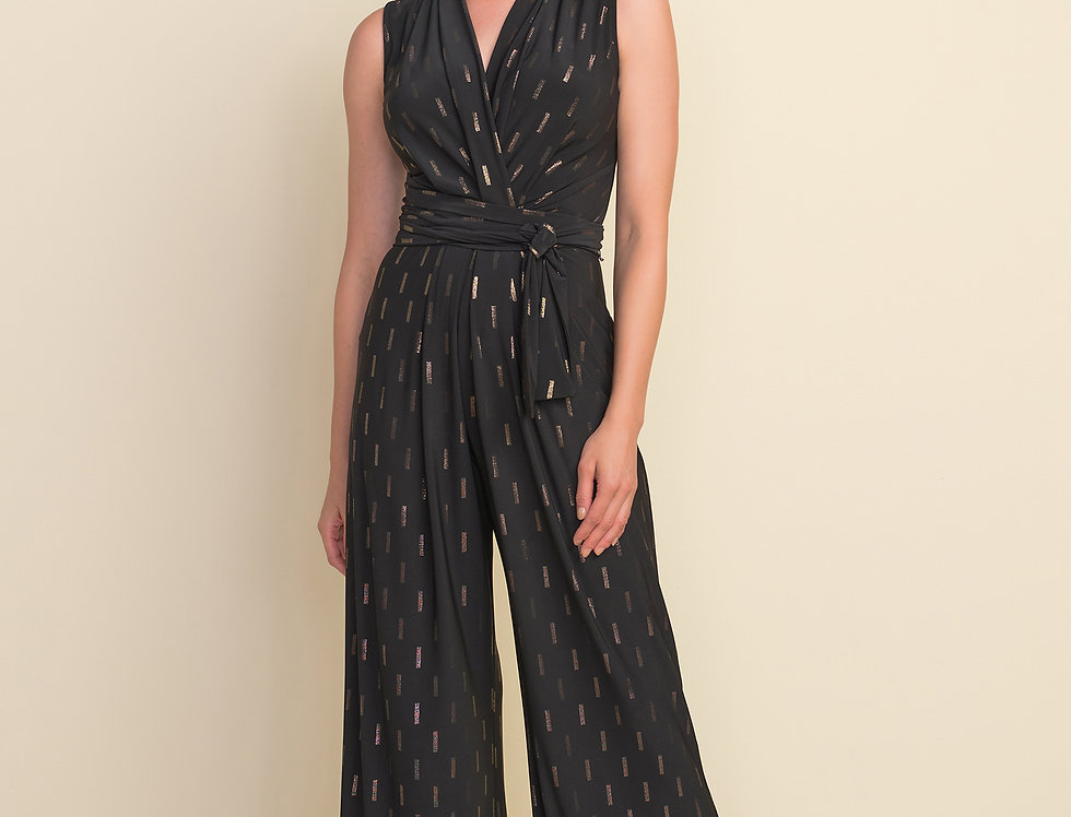 Joseph Ribkoff 212103 Black/Gold Jumpsuit UK12