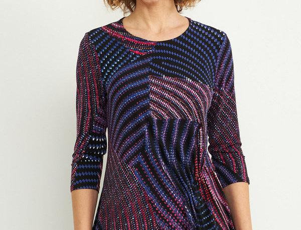 Joseph Ribkoff 204210 Purple/Multi Top UK12