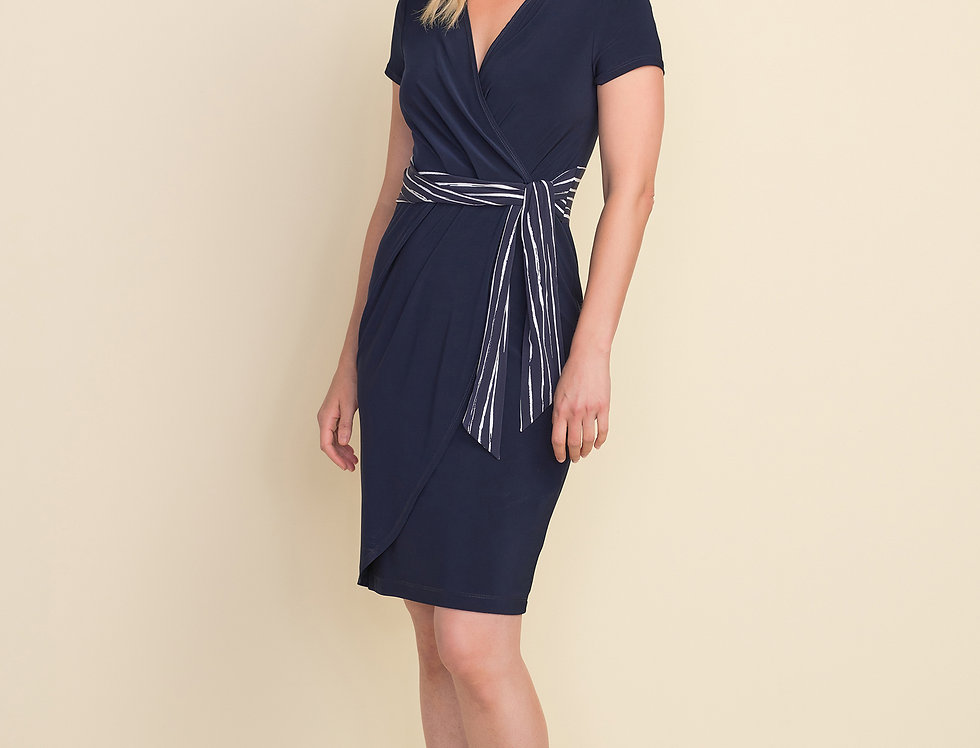 Joseph Ribkoff 212039 Midnight Blue/White Dress UK12