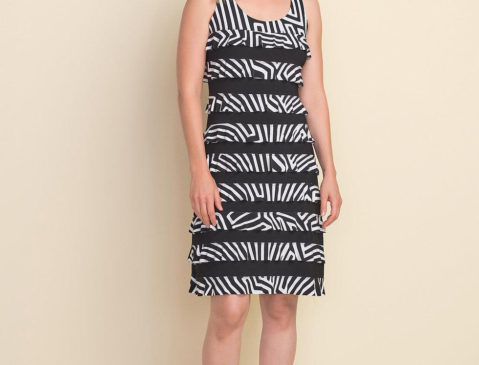 Joseph Ribkoff 212044 Black/Vanilla Dress UK12