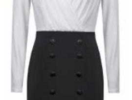 Joseph Ribkoff 211047 Black/Vanilla Dress UK10