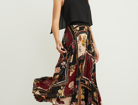 Joseph Ribkoff 203421 Black/Multi Dress UK12