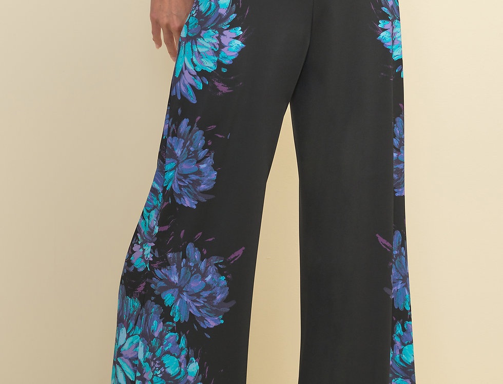 Joseph Ribkoff 211355 Black/Multi Pant UK10